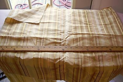 Vtg 100% Golden Silk Fabric Pillow Antique Queen Anne Doll Crafts