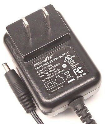 DigiPower TC-3000 AC DC Power Supply Adapter Charger Output 12V 800mA
