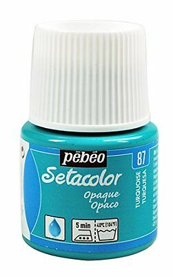 Pebeo Pebeo Setacolor Opaque Fabric Paint 45-Milliliter Bottle, Turquoise,Turquo