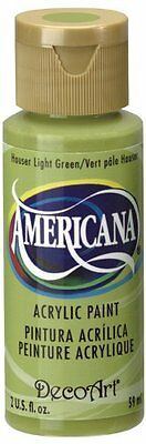 DecoArt Americana 2 oz Acrylic Multi-Purpose Paint, Hauser Light Green