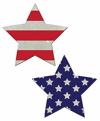 Pastease Flag Print Star Shaped Nipple Pasties