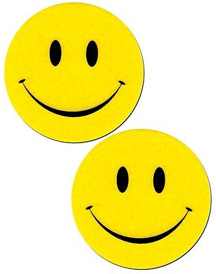 Smile Nipple Pasties Bright Yellow Happy Faces Pastease o/s