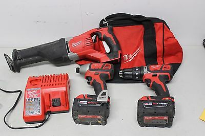 Milwaukee M18 Cordless Saw, Hex Impact Driver, Hammer Drill