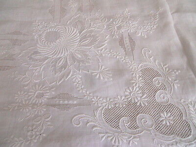 Vintage Appenzell Linen Tablecloth Bedspread 1920's