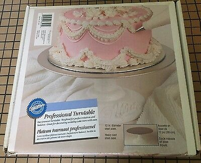 Wilton Professional Cake Decorating Icing Turntable Cast Steel Base & Plate
