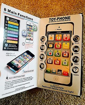 Mobile Phone Toy For Kids Children, Child Y-Phone, Toy Phone, UK seller