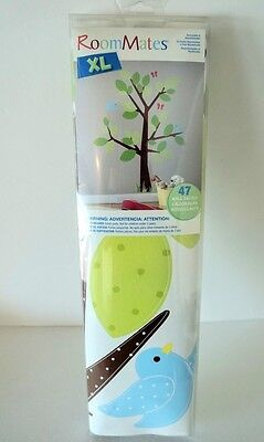 RoomMates XL Kids Tree Wall Decals Removable & Reusable Washable & Pre-cut 47PC