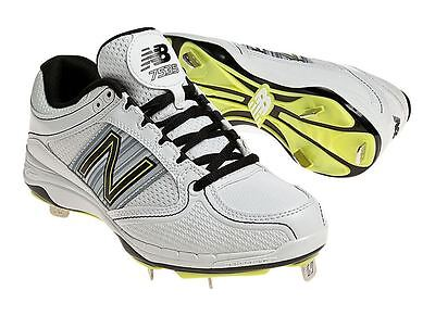 New Balance Women's Softball Cleats Metal Studs 7535 White Black WF7535WS