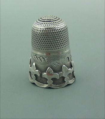 Antique Victorian Silver Thimble Excellent Charles May 1898