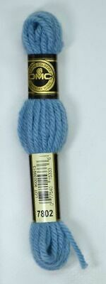 DMC TAPESTRY WOOL, 8m SKEIN, Colour 7802 LIGHT ANTIQUE BLUE