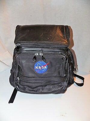 NASA Leather Computer Backpack Tote School Collectible