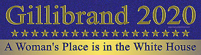 Gillibrand A Woman's Place Is In The White House Bumper Sticker President Vote