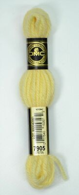 DMC TAPESTRY WOOL, 8m SKEIN, Colour 7905 LIGHT PALE YELLOW, 7579