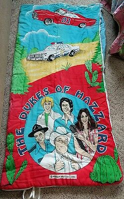 Vintage Dukes Of Hazzard 1980  Sleeping Bag Daisy Duke Bo Boss Hogg