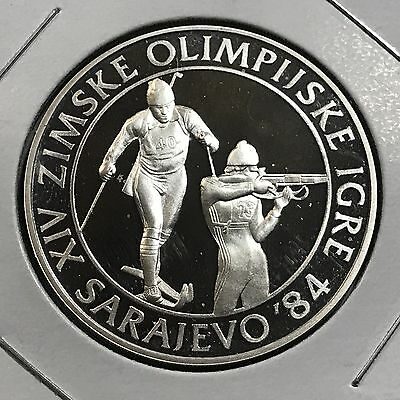 1984 Yugoslavia 500 Dinara Silver Proof Uncirculated Coin