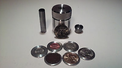 Coin Ring Center Punch for 50 Cent Piece. Your choice of punch+ 6 spacers