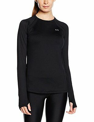 Nero (TG. Large) Under Armour UA Coldgear Crew Maglione, Nero, L