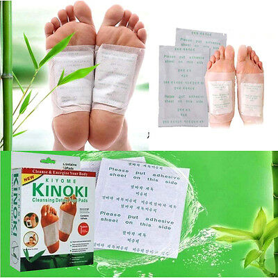 100pcs Kinoki In Box Detox Foot Pads Patches With Adhesive Fit Health Helper