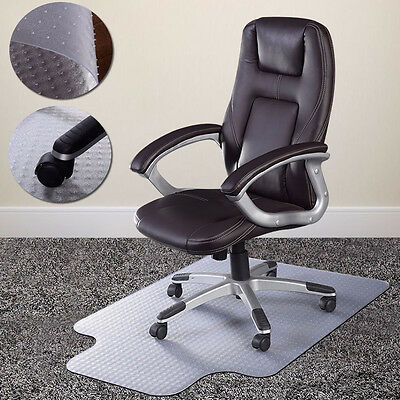 900X1200 Home Office Chair PVC Floor Mat Studded Rectangle Lip Clear Carpet New