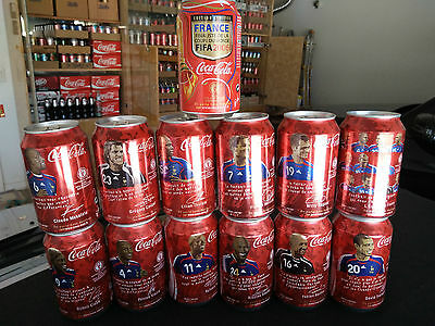 ONE COMPLATE SET 2006 world cup France team coke cans