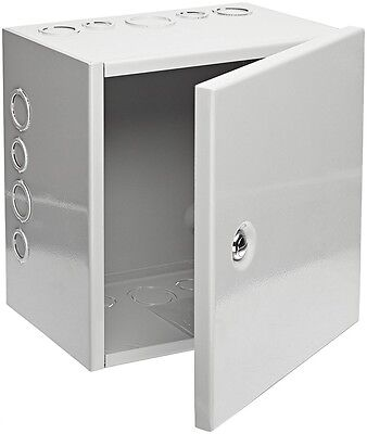 NEMA 1 Sheet Metal Wires Junction Box Electrical Enclosure Hinged Cover