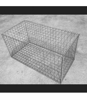 Welded Gabion 1000mm L x 500mm W x 500mm H, 50x50x3mm, Stainless Steel 316L