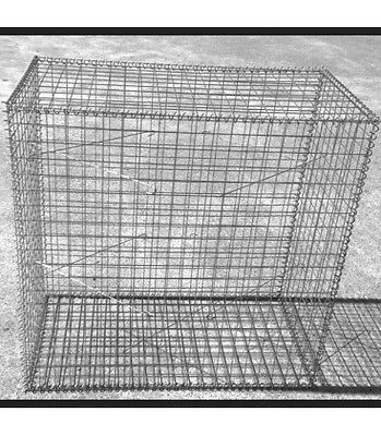 Welded Gabion 1000mm L x 500mm W x 1000mm H, 50x50x3mm, Stainless Steel 316L