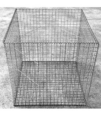Welded Gabion  1000mm L x 1000mm W x 1000mm H, 50x50mm, Stainless Steel 316L