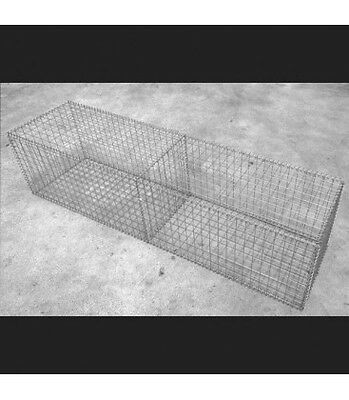 Welded Gabion 2000mm L x 500mm W x 500mm H, 50x50x3mm, Stainless Steel 316L