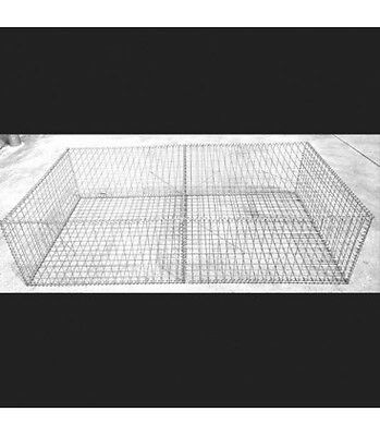 Welded Gabion  2000mm L x 1000mm W x 500mm H, 50x50x3mm Stainless Steel 316L