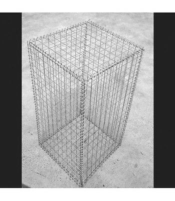 Welded Gabion 500mm L x 500mm W x 1000mm H, 50x50mm, Stainless Steel 316L