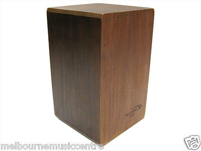 PERCUSSION PLUS CAJON Sapele Front Top Back & Sides *w/Padded Bag* NEW!