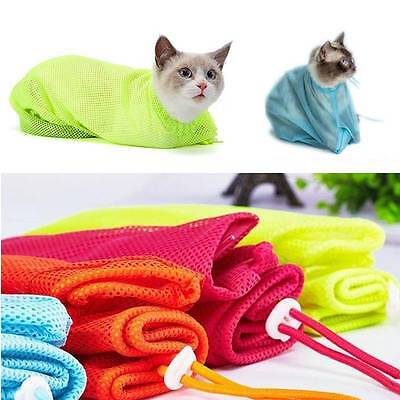 Cat Grooming Nail Clipping Bathing Bath Bag NO BITE SCRATCH Restraint System New