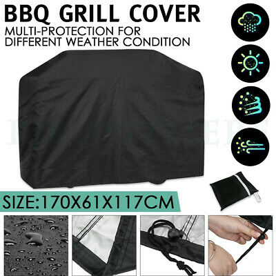 Large 4 Burner Hooded BBQ Cover Protector Gas Barbecue Grill Waterproof UV Proof