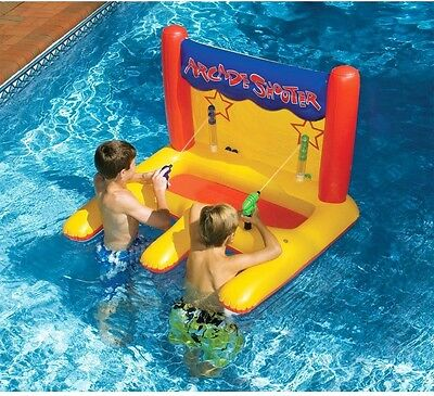 Pool Inflatable Toys For Kids Party Arcade Shooter Water Gun Float Swimming Ride
