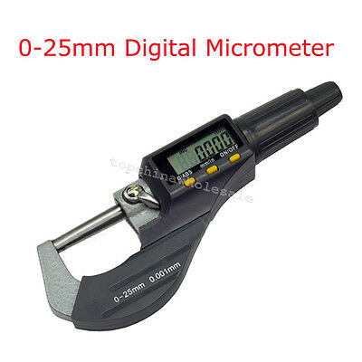 "0.001mm/0.00005"" Digital Electronic Outside Micrometer Carbide Tip 0-25mm SALE"