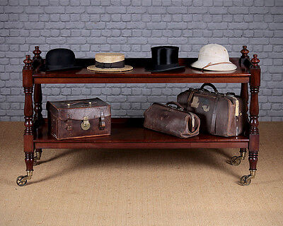 Antique 19th.c. Mahogany Two Tier Serving Sideboard Or Buffet c.1860.