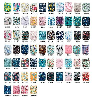 U Pick Alva Baby Pocket Diapers OneSize  Reusable Washable Nappies +1Insert Lot