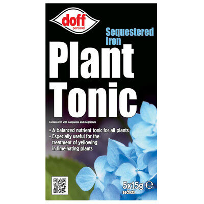 Doff Sequestered Iron Plant Tonic Feed Food With Magnesium 5 x 15 g Sachets
