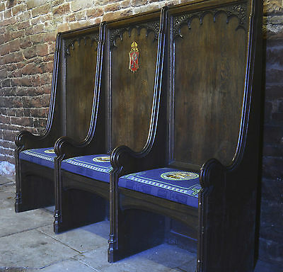Antique Settle (SEDILIA) ex HULL MINSTER (Holy Trinity), Victorian Gothic carved
