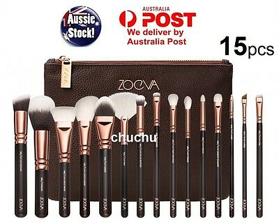 15PCS ZOEVA Makeup Brush Set Cosmetic Complete Eye Kit Rose Gold Melbourne Stock