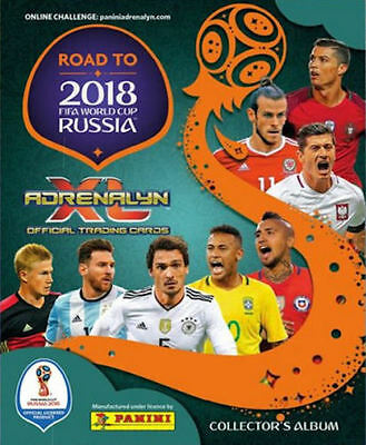 Panini Adrenalyn Road To 2018 Fifa World Cup Russia Soccer Trading Cards Album