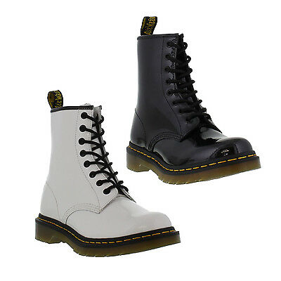 Dr Martens 1460 Patent Womens Black Leather Ankle Boots Size 4-8