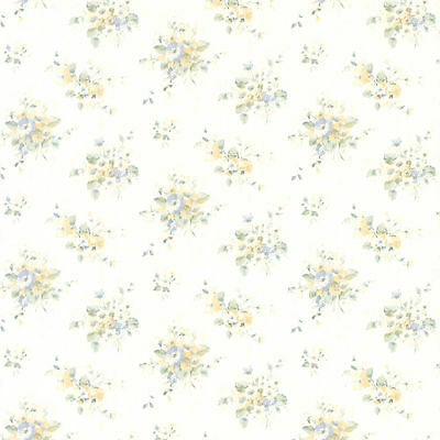 """Brewster Home Fashions Elaine Floral Bouquet 33' x 20.5"""" Wallpaper Roll"""