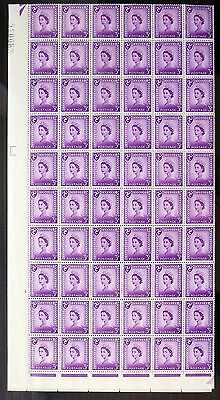 GB Isle of MAN 1958/68 - 3d Phosphor Centre Band Complete Sheet of 240 NB694