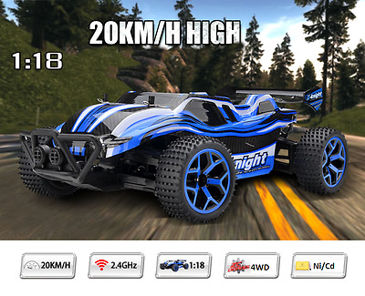 2.4G 1/18 Scale RC Car Off-road Racing Buggy High Speed RC Monster Truck Toys UK