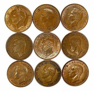 Lot of 30 1940 Great Britain 1c Large Cent Pennies #102123 R
