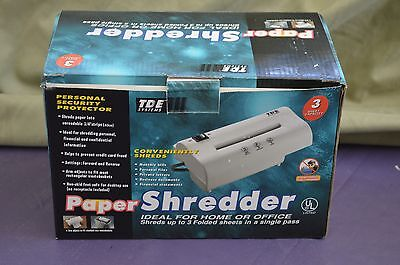 Paper Shredder TDE Systems home or office 1/4 inch strips personal security