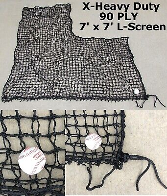 X-Heavy Duty Replacement L-Screen 7' x 7' 90PLY Batting Baseball Pitching Net