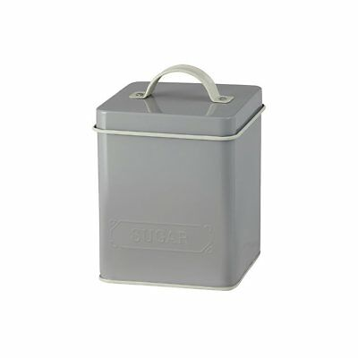 NEW Pantry Embossed Sugar Canister Grey